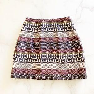 Ted Baker Metallic Jacquard Mini Skirt Size 4